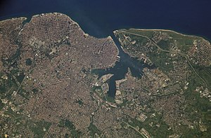 Havana Harbor - Havana Bay and Harbor, around which the City of Havana is situated.