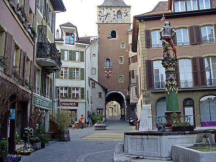 City gate of La Neuveville