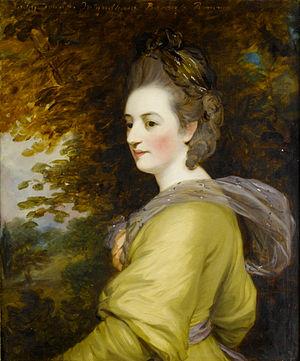 Charles Marsham, 1st Earl of Romney - Lady Frances Wyndham (John Hoppner)