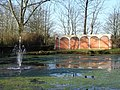 Lake, Fountain and 'Loggia', Downton Moot - geograph.org.uk - 330627.jpg