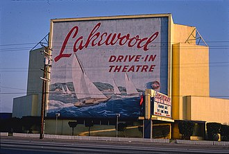 Lakewood, California - Lakewood Drive-In Theater, 1981.  Photo by John Margolies.