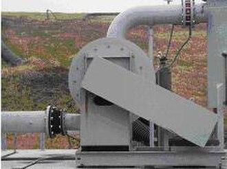 Landfill gas utilization - Landfill gas blower.