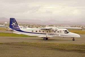 Landsflug (TF-CSG) Dornier Do 228 taxies at Reykjavik Airport.jpg