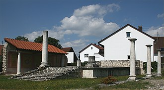 Grannus - A partially reconstructed temple of Apollo Grannus at Faimingen (Phoebiana) near Lauingen