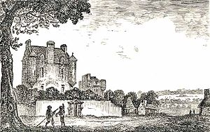 Lauriston Castle - Lauriston Castle as it appeared in 1775, before the 1827 addition by William Burn.