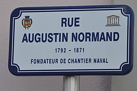 Le Havre (France), plaque rue Augustin Normand.jpg