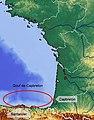 Le gouf de Capbreton sur une carte du golfe de Gascogne.jpg