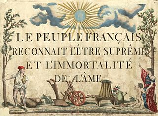 Cult of the Supreme Being State religion during the French Revolution