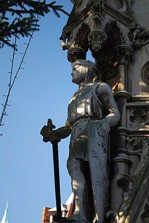Haymarket Memorial Clock Tower - Image: Leicester Clock Tower Simon de Montfort