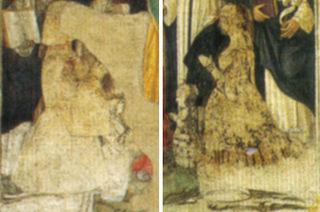 Sforza Family portraits in Santa Maria delle Grazie by Leonardo da Vinci