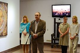 Leonid Khobotov in Gallery University of Culture 11.06.2014.JPG