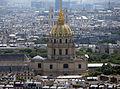 Les Invalides from the Eiffel Tower, Paris June 2014 001.jpg