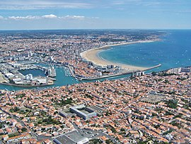 View of Les Sables-d'Olonne