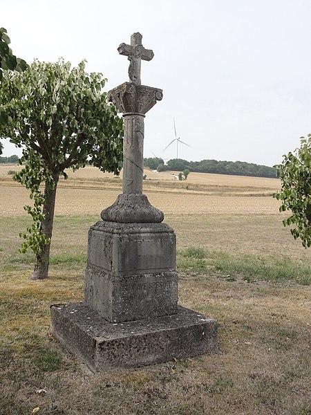 Les Souhesmes (Les Souhesmes-Rampont, Meuse) croix de chemin Souhesme-la-Grande