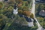 Lesencetomaj, katolikus templom a levegőből.jpg