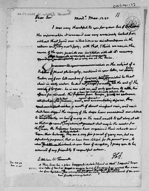 Littleton Waller Tazewell - Letter from Thomas Jefferson to Littleton Waller Tazewell, 1825. Library of Congress