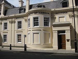 Medical Society of London - Lettsom House, 11 Chandos Street, London. Headquarters since 1873