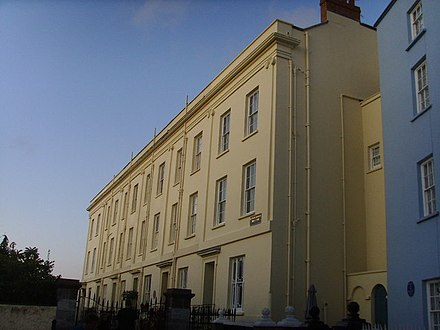 Hamnett was born at No.3, Lexden Terrace, Tenby, Wales Lexden Terrace, Tenby - geograph.org.uk - 1454374.jpg