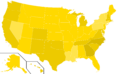 Libertarian Party presidential election results, 2000, ordinal (United States of America).png
