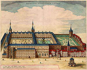 Prince-Bishops' Palace (Liège) - The palace in 1649