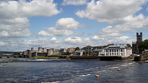 English: Limerick, looking northeast up the Ri...