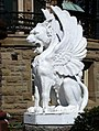 Lion of St Mark outside Bishop's Palace -- Galveston, Texas.jpg