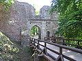 Litice castle entering gate.JPG