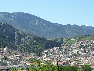 Boeotia - View of Livadeia town.
