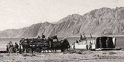 נחתת מביאה מים ודלק לחטיבה 9 במפרץ דהב