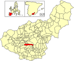Location of Dílar