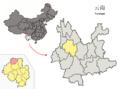 Location of Jianchuan within Yunnan (China).png