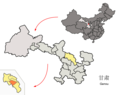 Location of Jingyuan County within Gansu (China).png