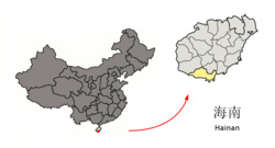 Location Sanya City jurisdiction in Hainan