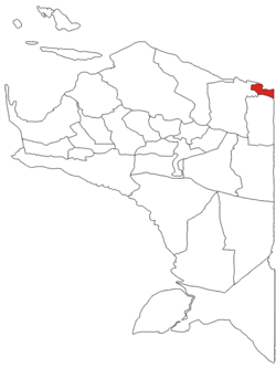 Location within Papua
