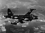 Lockheed P2V-7 Neptune in flight near NAS Patuxent River in 1954.jpg