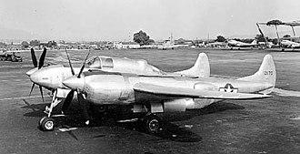 Lockheed XP-58 Chain Lightning - Lockheed XP-58 Chain Lightning side view.