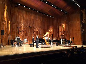 Ensemble InterContemporain - The Ensemble InterContemporain after a performance of Boulez' Sur Incises in Barbican Hall, London, April 2015