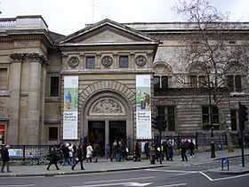 Entrée de la National Portrait Gallery à Londres