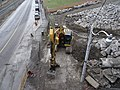 Looking down at a back hoe from a bridge over the Don River, 2014 12 03 (3).JPG - panoramio.jpg