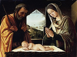 <i>Holy Family</i> (Costa) painting by Lorenzo Costa