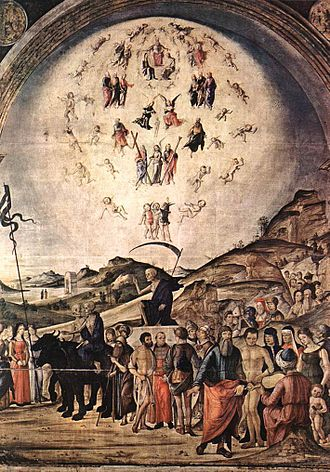 Basilica of San Giacomo Maggiore - The Triumph over Death by Lorenzo Costa the Elder (1490).