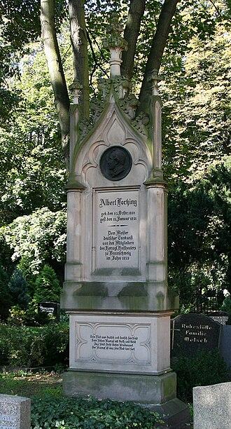 Albert Lortzing - Lortzing's tomb in Berlin