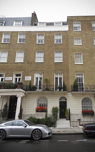 John Bingham, 7th Earl of Lucan - 46 Lower Belgrave Street in London's Belgravia district