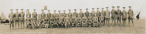 64th Battalion, CEF - Lt.-Col. H. Montgomery Campbell, and officers, 64th Overseas Battalion, CEF (HS85-10-31305)
