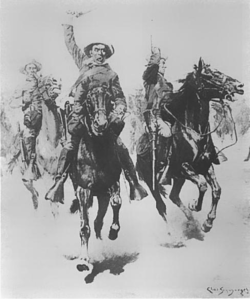 Lt. Schwatka's charge at Slim Buttes