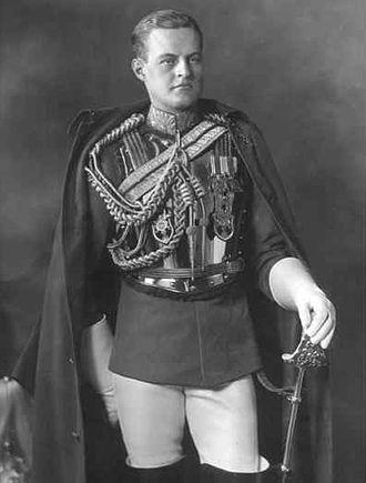 Urban Huttleston Broughton, 1st Baron Fairhaven - Lieutenant Huttleston Broughton in full dress uniform of the First Life Guards in 1921.