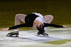 Cantilever (figure skating) - Image: Lubov Iliushechkina EX 2008 2009 JGPF