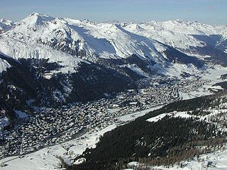 Davos, in the Swiss Alps