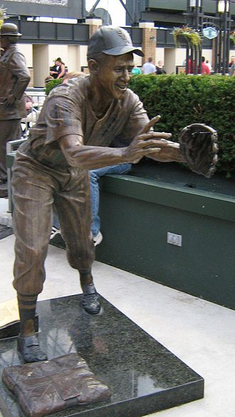 Luis Aparicio - In bronze, shortstop Aparicio waits for the baseball being flipped from teammate Nellie Fox.