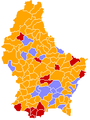 Luxembourg legislative election 1999 communes map.png